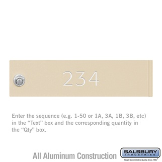 Salsbury 3468 Custom Engraved Door - Regular