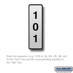 Salsbury 2267 Custom Engraved Self Adhesive Placard For Aluminum Mailboxes
