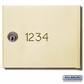 Salsbury 3674SAN Custom Engraving Black Filled For Sandstone 4B+ Horizontal Mailboxes