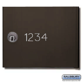 Salsbury 3668BRZ Custom Engraving Regular For Bronze 4B+ Horizontal Mailboxes
