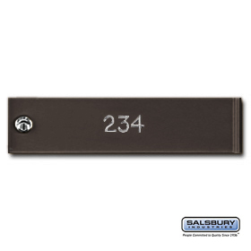 Salsbury 3768BRZ Engraving Regular 4C Horizontal Mailboxes and Lockers