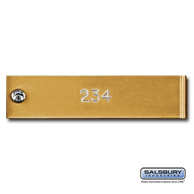 Salsbury 3768GLD Engraving Regular 4C Horizontal Mailboxes and Lockers