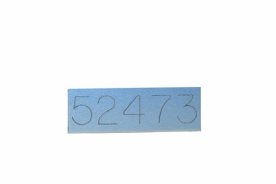 Custom Metal Adhesive Tag - Horizontal Mailbox Replacement Part