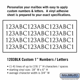 Salsbury 1203BLK Reflective Address Numbers