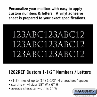 Salsbury 1202REF Reflective Address Numbers