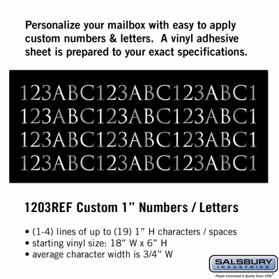 Salsbury 1203REF Reflective Address Numbers