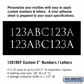 Salsbury 1201REF Reflective Address Numbers