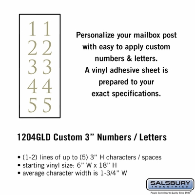 Salsbury 1204GLD Reflective Address Numbers