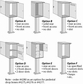 Salsbury 4280 Custom Options For Pedestal Drop Boxes Order Drop Boxes Separately