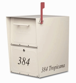 Custom Vinyl Front and Side Mailbox Lettering