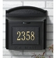 Whitehall Custom Wall Mount Mailbox with Removable Locking Insert - Black