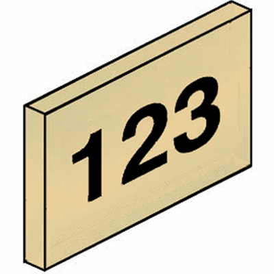 Salsbury 2068T Custom Engraving For Brass Mailbox Tenant Doors On Tan Plastic Windows