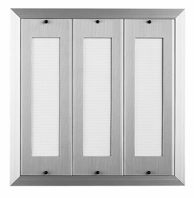 120 Name Capacity Directory for Vertical Mailboxes Anodized Aluminum
