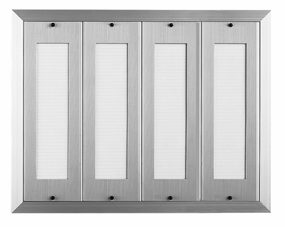 160 Name Capacity Directory for Vertical Mailboxes Anodized Aluminum