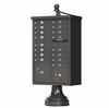 Cluster Box Unit With Decorative Accessory Kit in Dark Bronze - 16 Compartments