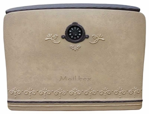 Dea's Garden Mailbox Collection Ange Composite Mailbox in Ochre Brown