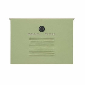 Dea's Garden Mailbox Collection Wall Mount Crea Composite Mailbox in Mint