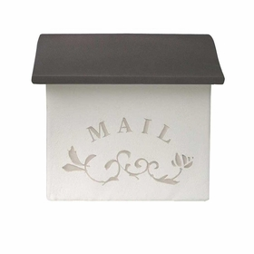 Dea's Garden Mailbox Collection Wall Mount Stucco Composite Mailbox in Cocoa