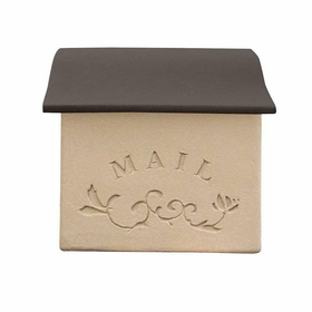 Dea's Garden Mailbox Collection Wall Mount Stucco Composite Mailbox in Mild Brown