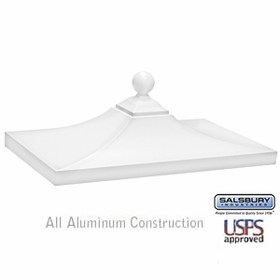 Salsbury 3350WHT Decorative CBU Top - White