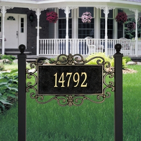 Whitehall Mears Fretwork - Estate Lawn Address Sign - One Line