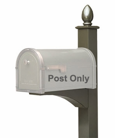 Decorative In-Ground Mailbox Post w/Front Support