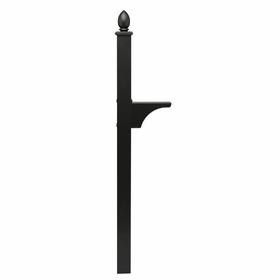 Single Post Mount System Decorative In-ground (Mailboxes purchased separately)