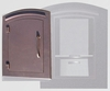 Manchester Security Locking Column Mount Mailbox with Plain Door in Antique Copper (Stucco Column Not Included)