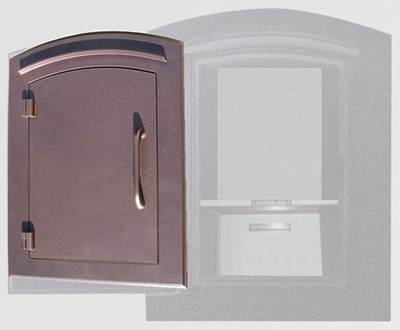 Manchester Locking Column Mailbox with Plain Door in Antique Copper (Stucco Column Purchased Separately)