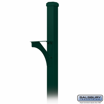Salsbury 4835GRN Decorative Mailbox Post Designer In Ground Mounted Green