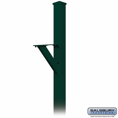Salsbury 4825GRN Decorative Mailbox Post Modern In Ground Mounted Green