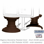 Decorative Pedestal Cover-Short - Bronze
