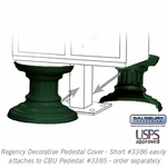 Decorative Pedestal Cover-Short - Green
