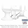 Salsbury 3386WHT Decorative Pedestal Cover-Short - White