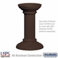 Salsbury 3396BRZ Decorative Pedestal Cover-Tall - Bronze