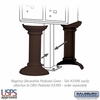 Decorative Pedestal Cover-Tall - Bronze