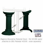 Salsbury 3396GRN Decorative Pedestal Cover-Tall - Green