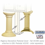 Salsbury 3396SAN Decorative Pedestal Cover-Tall - Sandstone