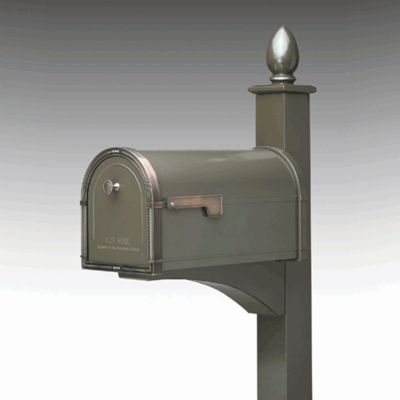 Single Post Mount System Decorative Front Mount In-Ground (Mailboxes purchased separately)