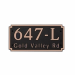 Dekorra Products 647 Horizontal Address Plaques