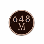 Dekorra Products 648 Medium Round and Oval Address Plaques