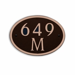 Dekorra Products 649 Medium Round and Oval Address Plaques