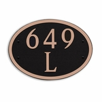 Dekorra Products 649 Round and Oval Address Plaques