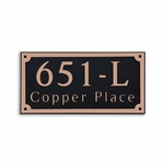 Dekorra Products 651 Rectangular Address Plaques