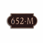 Dekorra Products 652 Medium Horizontal Address Plaques