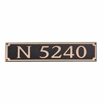 Dekorra Products 656 Medium Horizontal Address Plaques