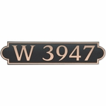 Dekorra Products 657 Horizontal Address Plaques