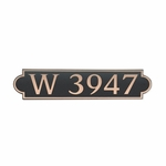 Dekorra Products 657 Medium Horizontal Address Plaques
