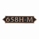 Dekorra Products 658 Medium Horizontal Address Plaques
