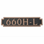 Dekorra Products 660 Horizontal Address Plaques